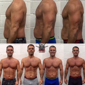 Stephane Lamarre De 15% a 10% en 12 semaines et gagné 4 lbs de masse maigre. Avec plusieurs hernies cervicales et lombaires, il donne sont max à chaque sessions.